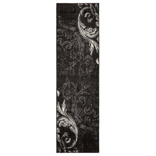 Where buy  Rueben Anthracite Black Area Rug By Astoria Grand