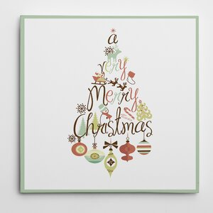 'Christmas Tree Word Play' Photographic Print on Wrapped Canvas