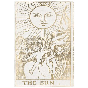 'The Sun Tarot Luxe' Graphic Art on Wrapped Canvas by Mistana