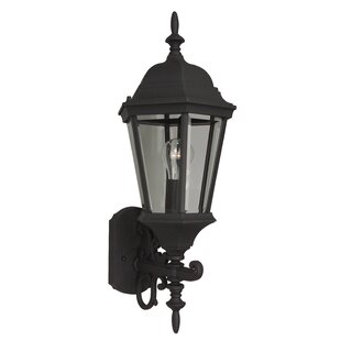 Top Reviews Oakhill Traditional Glass 1-Light Outdoor Sconce By Charlton Home