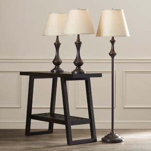 McDermott 3 Piece Table and Floor Lamp Set By Darby Home Co Lamps