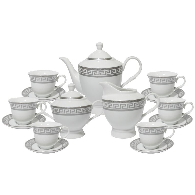 Lilesville Greek Key 17 Piece Tea Set  sc 1 st  Wayfair & Mint Pantry Lilesville Greek Key 17 Piece Tea Set \u0026 Reviews | Wayfair