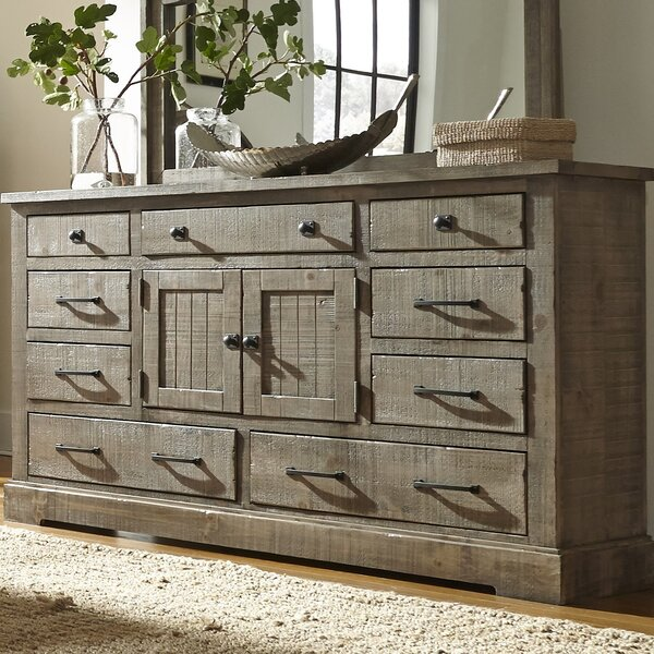 August Grove Buford 9 Drawer Combo Dresser U0026 Reviews | Wayfair