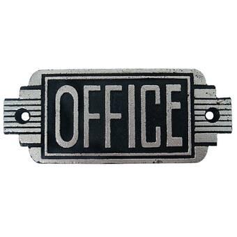 CAST IRON Private Sign Art Deco Style