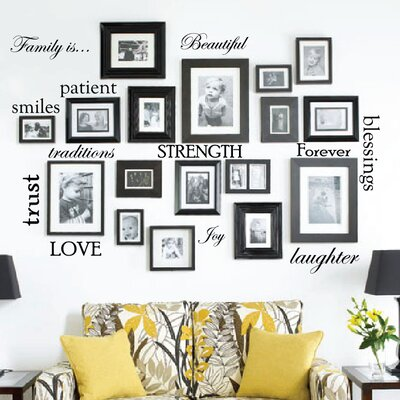 12 family quote words vinyl wall decal - Wall Decals