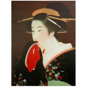 Geisha Painting Print on Wrapped Canvas by Oriental Furniture