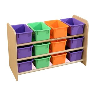 Read Reviews See-All 12 Compartment Cubby with Trays By Wood Designs