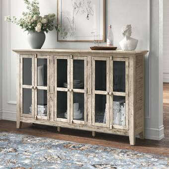 Sarreid Ltd Noah 76 Wide Pine Wood Sideboard Wayfair