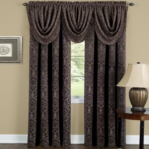 Beauvale Damask Blackout Rod Pocket Single Curtain Panel
