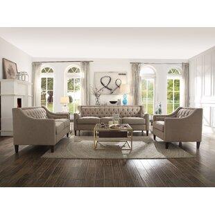 Denisas 3 Piece Living Room Set by Red Barrel Studio®