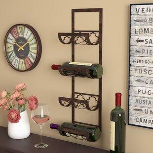 Brashears 4 Bottle Wall Mounted Wine Rack