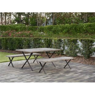 Mccarley 3 Piece Outdoor Dining Set
