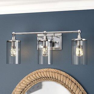 3 light vanity fixture chrome hague 3light vanity light with clear ribbed glass bathroom lighting