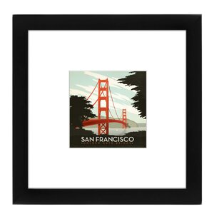 San Francisco Framed Vintage Advertisement by East Urban Home