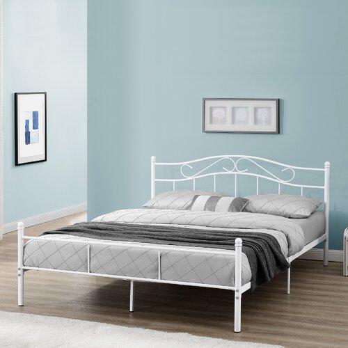 Metallbett Zanders Marlow Home Co. Farbe: Weiß| Liegefläche: 160 x 200 cm | Schlafzimmer > Betten | Marlow Home Co.