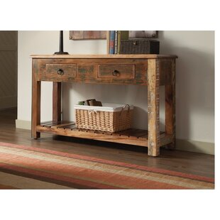 Review West Oak Lane Charmed Rustically Wooden Console Table By Loon Peak