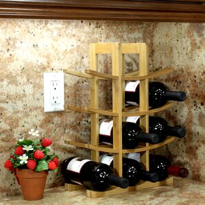 12 Bottle Tabletop Wine Rack by Rebrilliant