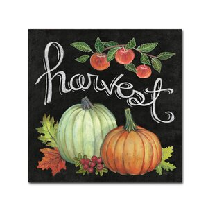 'Autumn Harvest IV Square' Textual Art on Wrapped Canvas by Trademark Fine Art