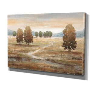 Linen Landscape I by Nan Painting Print on Wrapped Canvas by Wexford Home