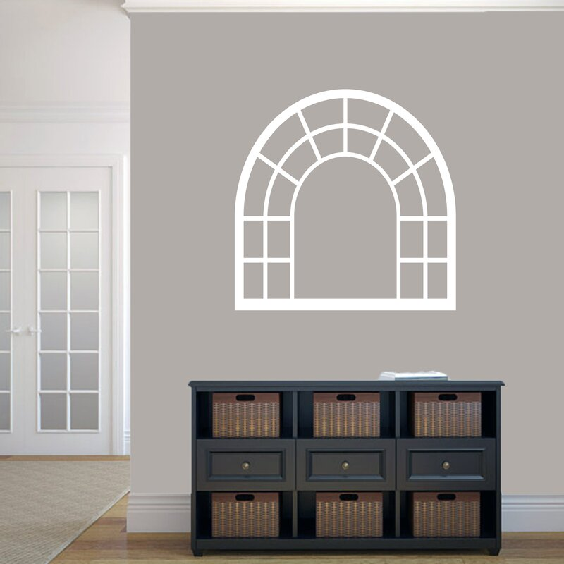 SweetumsWallDecals Arched Window Frame Wall Decal | Wayfair