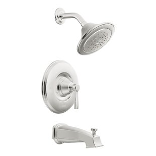 Compare Rothbury Posi-Temp Pressure Balance Tub and Shower Faucet Trim with Lever Handle By Moen