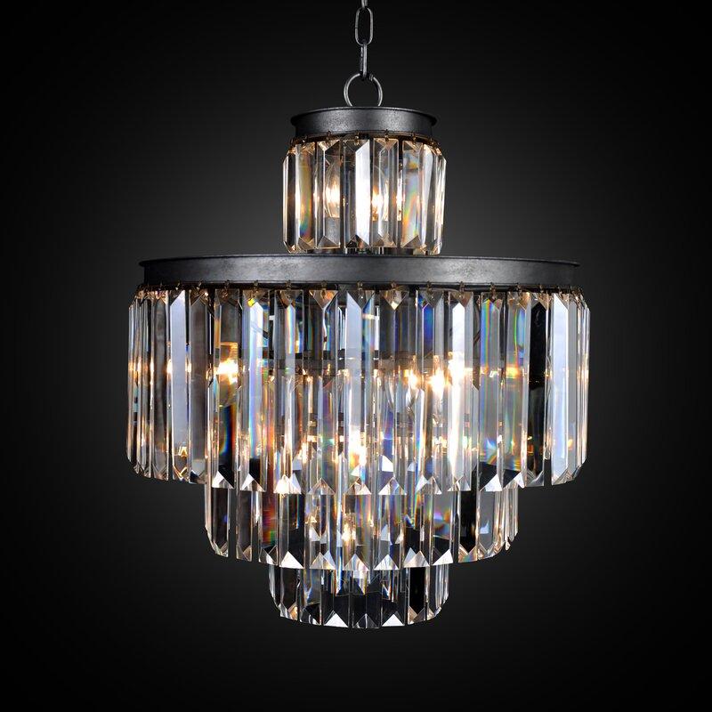 All home art deco 11 light empire chandelier reviews wayfair art deco 11 light empire chandelier aloadofball Gallery