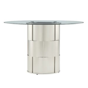 cliburn drum glass dining table