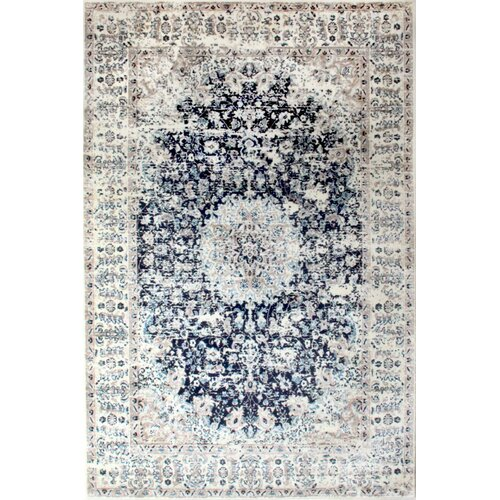 Leona Tufted Navy Rug Borough Wharf Rug Size: Runner 60 x