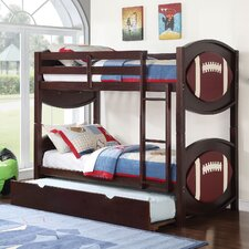 All Star Football Over Twin Bunk Bed with Trundle by ACME Furniture