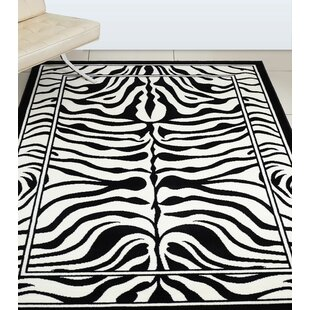 Safari Zebra Black Area Rug