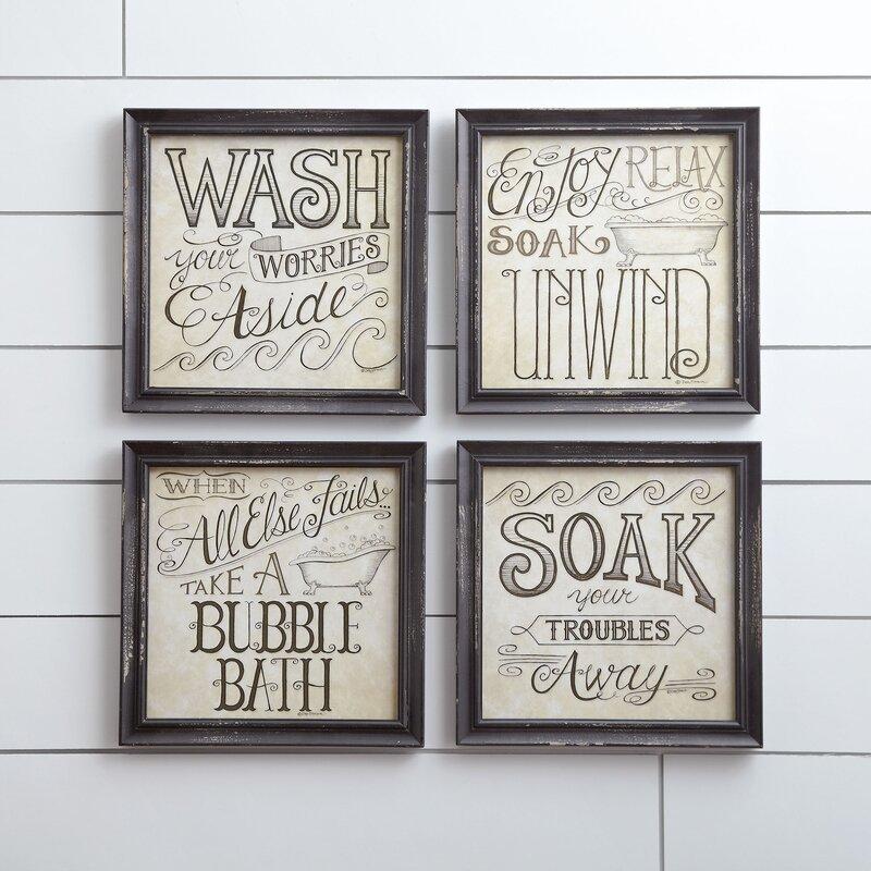Bath Time Wall Framed Print Reviews Birch Lane
