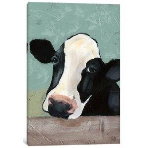 Holstein Cow III' Painting Print on Canvas by East Urban Home