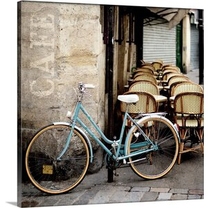 'Cafe Bicycle' by Marc Olivier Photographic Print on Canvas by Great Big Canvas