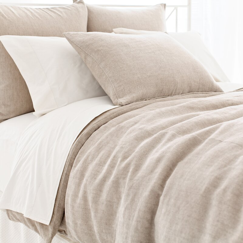 Linen Chenille Duvet Cover Collection. #Belgianlinen bedding by #PineConeHill