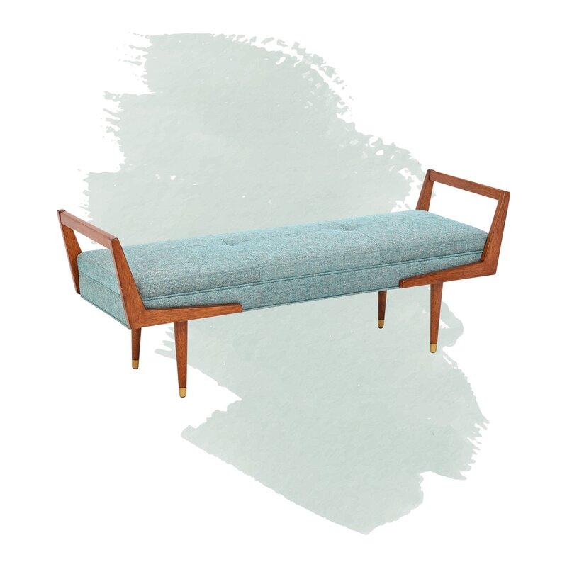 Brown Grey Elk Lighting upholstered bench