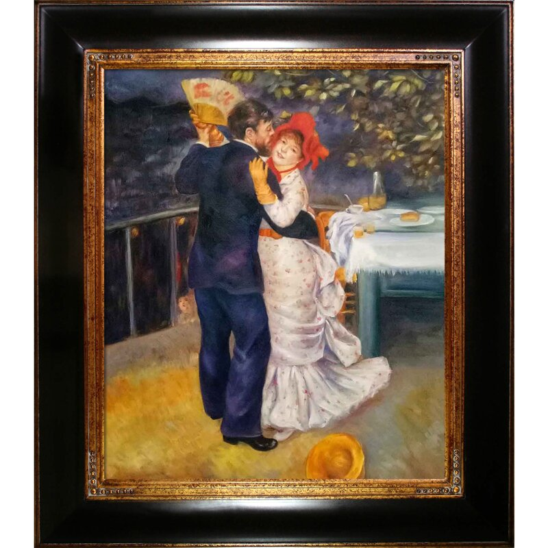 Tori Home Dance In The Country By Pierre Auguste Renoir Picture Frame Print On Canvas Wayfair