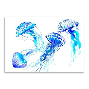 Jellyfish Painting by East Urban Home