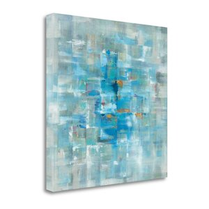 'Abstract Squares' Print on Canvas by Tangletown Fine Art