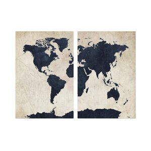 'Globetrotter' Wall Art Set by Trademark Global