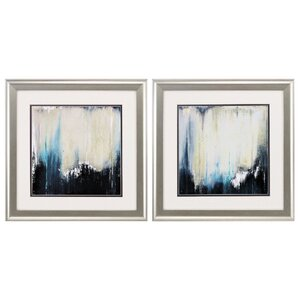 Blue Illusion 2 Piece Framed Graphic Art Set by Propac Images