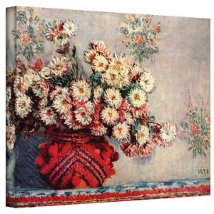 ''Red Vase'' by Claude Monet Print of Painting on Canvas by ArtWall