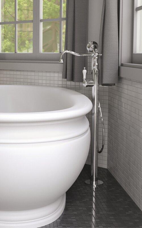 Aquatica Caesar Single Handle Floor Mounted Freestanding Tub ...