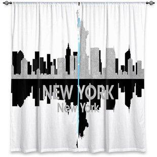 City IV New York Angelina Vicks Room Darkening Curtain Panels Set Of 2