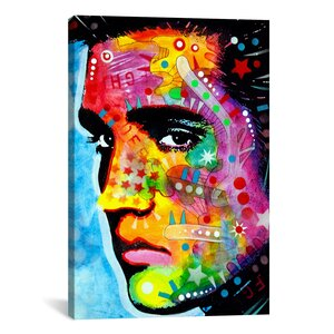 Elvis Presley by Dean Russo Graphic Art on Canvas by iCanvas