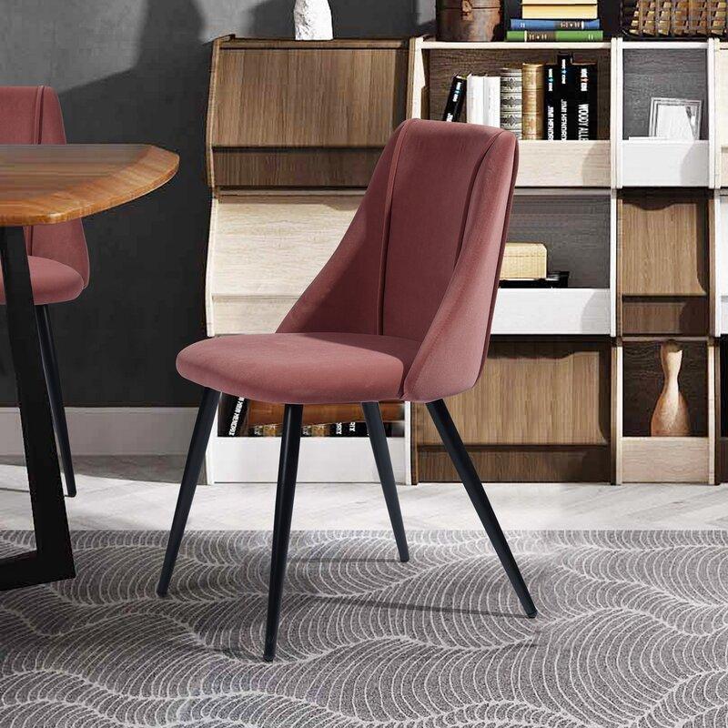 Shop Kora Velvet Upholstered Side Chair (Set of 2) from Wayfair on Openhaus
