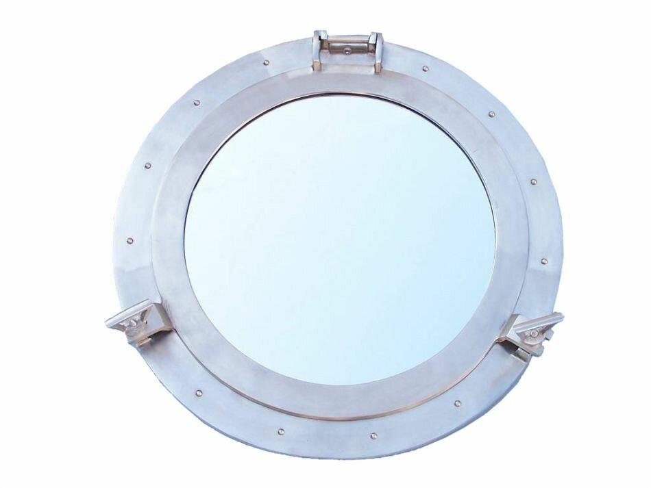 port porthole mirror decoration pin chrome beach decor hole nautical