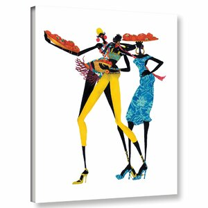 'Jolie' Graphic Art Print on Wrapped Canvas by Bloomsbury Market