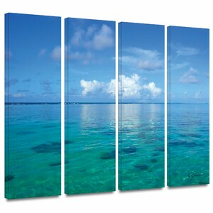 Lagoon & Reef by George Zucconi 4 Piece Photographic Print on Wrapped Canvas Set by ArtWall