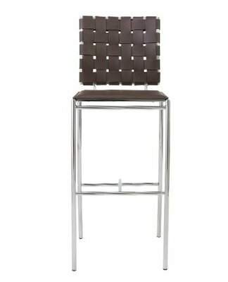 Modern Brown Faux Leather Bar Counter Stools Allmodern