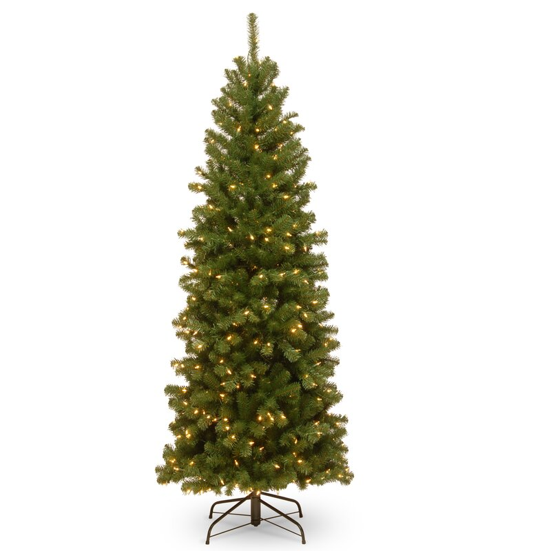 Next Slim Christmas Tree: The Holiday Aisle Pencil Slim 6' Green Spruce Artificial